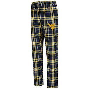Men's Concepts Sport Navy West Virginia Mountaineers Big & Tall Hillstone Flannel Pants