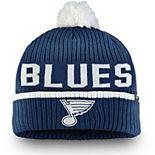 Men's Fanatics Branded Navy St. Louis Blues Iconic Stroke Cuffed Knit Hat with Pom