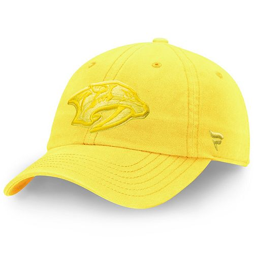 Women S Fanatics Branded Gold Nashville Predators Color Hue Fundamental Adjustable Hat