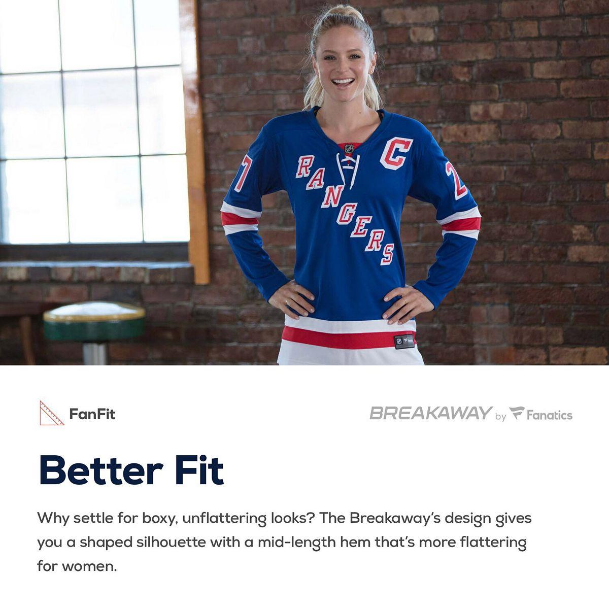 Women's Fanatics Branded Henrik Lundqvist Blue New York Rangers Home Breakaway Player Jersey R7ZB9