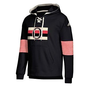 Calgary Flames Jersey Lace-Up Pullover Hoodie