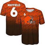 Youth Baker Mayfield Orange Cleveland Browns Propulsion Sublimated Name & Number T-Shirt