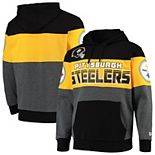 Men's G-III Sports by Carl Banks Black Pittsburgh Steelers Extreme Special Team Pullover Hoodie