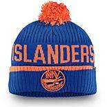 Men's Fanatics Branded Royal New York Islanders Iconic Stroke Cuffed Knit Hat with Pom