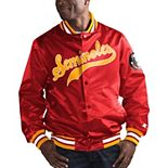 Men's Starter Garnet Florida State Seminoles O-Line Varsity Full-Button Satin Jacket