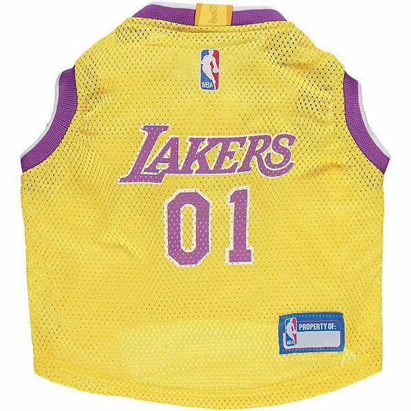 Los Angeles Lakers Mesh Basketball Dog Jersey