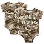 Newborn & Infant Colosseum Camo Auburn Tigers OHT Military Appreciation Desert Camo Raglan Bodysuit