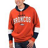Men's Hands High Orange Denver Broncos Record Setter Pullover Hoodie