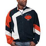 Men's Starter Navy/White Chicago Bears Throwback Star Full-Zip Jacket