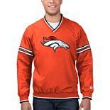Men's Starter Orange/White Denver Broncos Gameday Trainer Pullover Sweatshirt