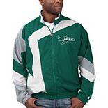 Men's Starter Green/White New York Jets Throwback Star Full-Zip Jacket