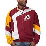 Men's Starter Burgundy/White Washington Redskins Throwback Star Full-Zip Jacket