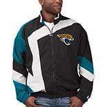 Men's Starter Black/White Jacksonville Jaguars Throwback Star Full-Zip Jacket