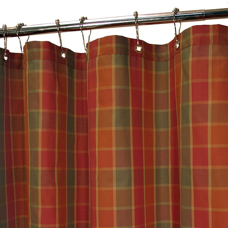 park b smith dorset plaid fabric shower curtain