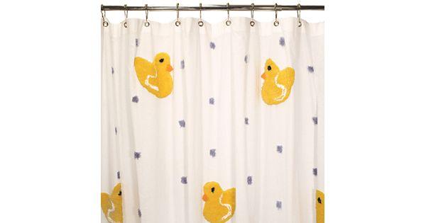 Park B Smith Duck Fabric Shower Curtain