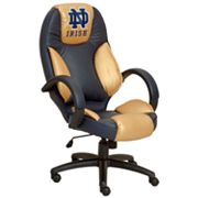 University of Notre Dame Fighting Irish Leather Office Chair