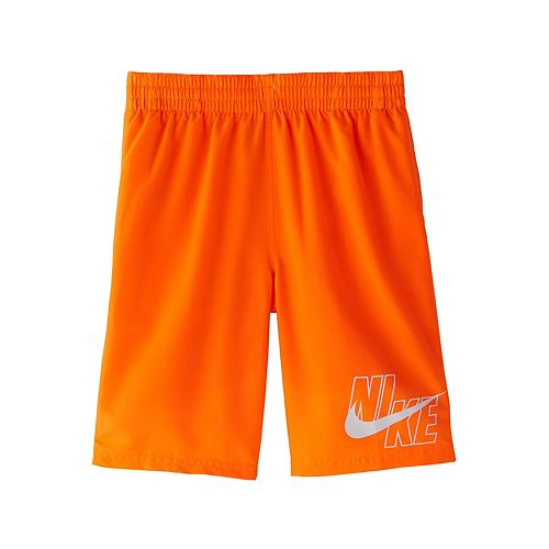 Boys 8-20 Nike Logo Solid Lap Volley Swim Shorts