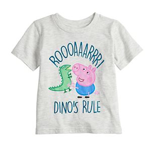 "Toddler Boy Jumping Beans® Peppa Pig ""Dino's Rule"" Graphic Tee"