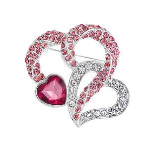 Napier Double Heart Pin
