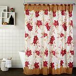 Saturday Knight, Ltd. Poinsettia Shower Curtain & Hook Set