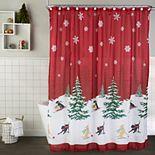 Saturday Knight, Ltd. Scenic Tree Shower Curtain & Hook Set