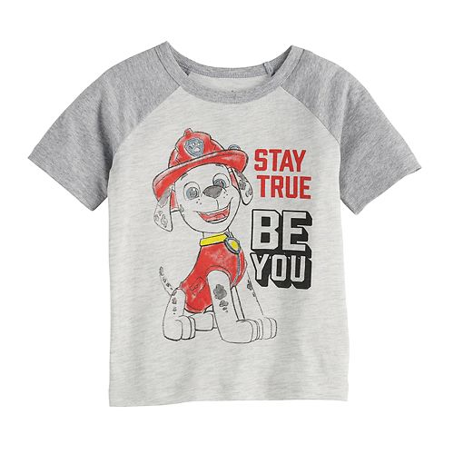 """Toddler Boy Jumping Beans® Paw Patrol """"Stay True Be You"""" Marshall Raglan Graphic Tee"""