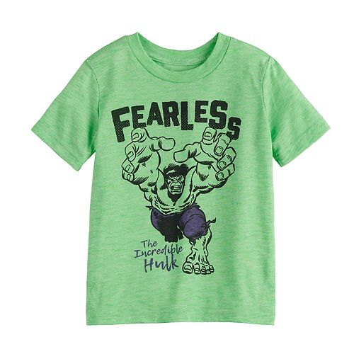 "Toddler Boy Jumping Beans® Marvel The Incredible Hulk ""Fearless"" Graphic Tee"