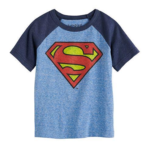 Toddler Boy Jumping Beans® Superman Raglan Graphic Tee