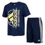 Boys 4-7 adidas Graphic Tee & Shorts Set