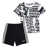 Boys 4-7 adidas Abstract Graphic Tee & Shorts Set