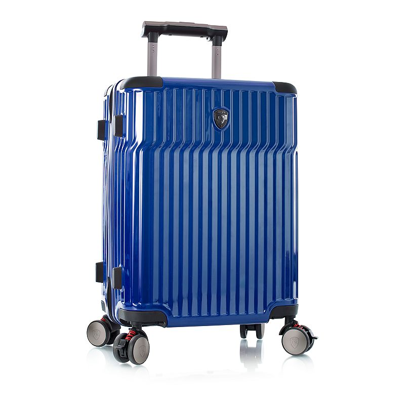 Heys Tekno 21-Inch Carry-On Hardside Spinner Luggage, Blue, 21 Carryon