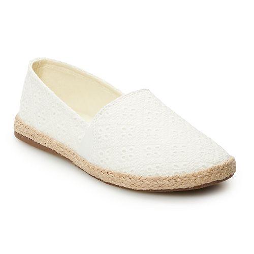 SO® Amberly Girls' Espadrille Flats