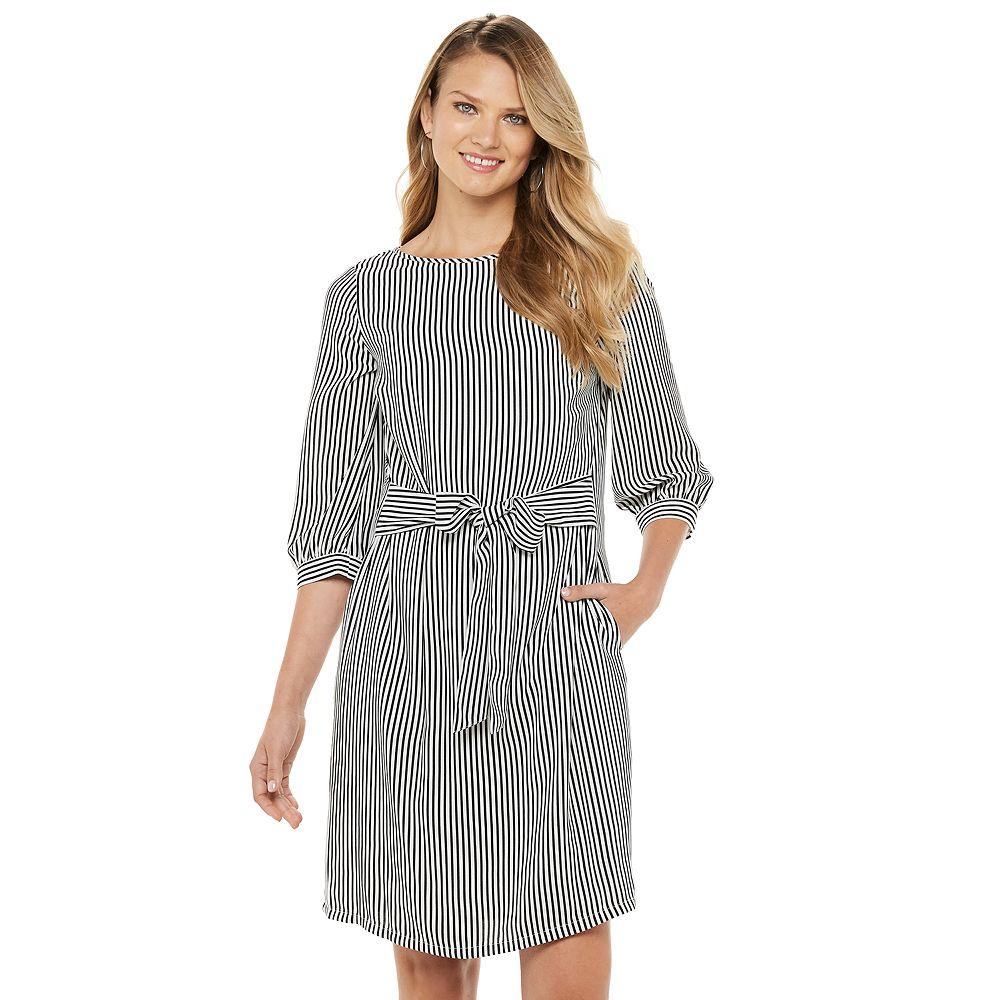 Women's Apt. 9® Belted Boatneck Dress
