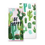 Celebrate Summer Together Cactus Kitchen Towel 2-pk.