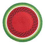 Celebrate Summer Together Braided Watermelon Placemat
