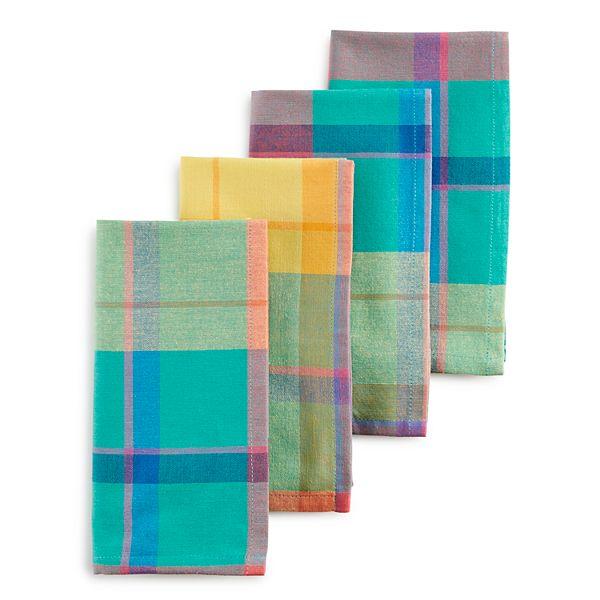 Celebrate Summer Together Rainbow Plaid Napkin 4 Pk