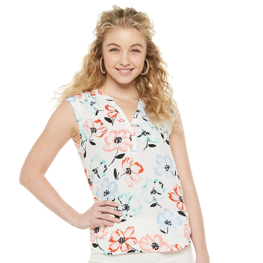 Juniors' Candie's® Button Front Tank