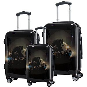 Chariot Stallion Hardside 3-Piece Spinner Luggage Set