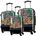 Chariot Mod Tiger Hardside 3-Piece Spinner Luggage Set