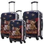 Chariot Freedom Pups Hardside 3-Piece Spinner Luggage Set