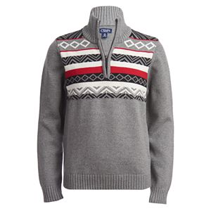 Boys 8-20 Chaps Fairisle Quarter-Zip Pullover Sweater