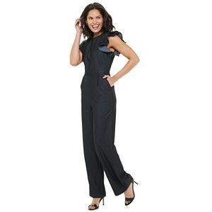 Women's Chaps Flutter Sleeve Jumpsuit