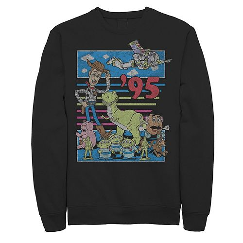 Men's Disney / Pixar Toy Story 95 Retro Distressed Colorful Sweatshirt