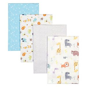 Trend Lab Jungle 4 Pack Flannel Blankets