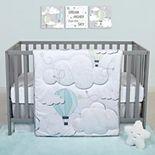 Sammy & Lou Starry Dreams 4 Piece Crib Bedding Set