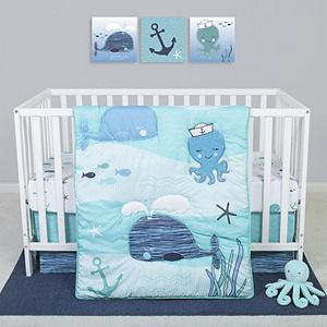 Sammy & Lou Nautical Adventure 4 Piece Crib Bedding Set