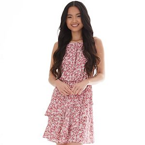 Juniors' IZ Byer Twisting Flounces Dress