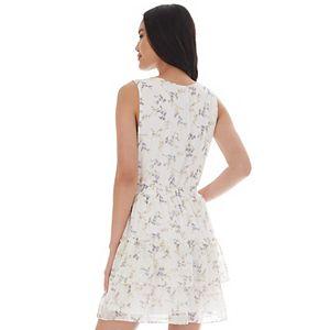 Juniors' IZ Byer Exposed Ruffles Floral Dress