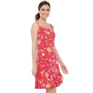 Women's Chaps Floral Squareneck Fit & Flare Dress