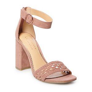 LC Lauren Conrad Talc Women's Block Heel Sandals